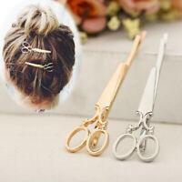 Fashion Women Scissor Hair Clip Hairpin Barrette Bobby Pin Headdress Accessories