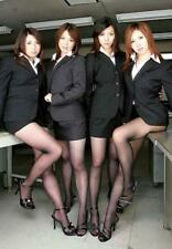 "5""x7"" PHOTO * SEXY Asian OFFICE GIRLS in SHORT SKIRTS, PANTYHOSE & HEELS * AZ166"