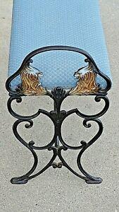 Antique Cast Iron Super Ornate Art Deco Griffin Radio Bench seat chair stool
