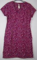 New Mistral  Magenta bird print tunic dress - Uk Size 8 - 18