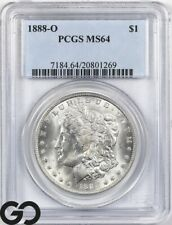 1888-O MS64 Morgan Silver Dollar Silver Coin PCGS Mint State 64 ** Lustrous!