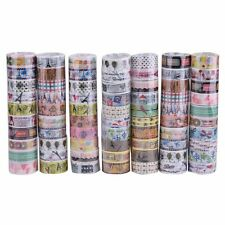 10 Rolls Lovely KAWAII Cartoon Deco Tape Scrapbooking Adhesive Paper Sticker