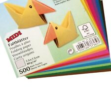 500 Sheets Square Origami Paper - 7.5cm | Christmas Shop