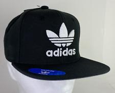 Adidas Youth Originals Trefoil Chain Snapback Hat Cap Black/White CI1357