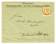 GERMANY -LOCAL-PRIVATPOST =COVER -1893- FRANKFURT - USED --F/VF