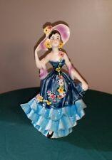 "GOEBEL ""Beautiful Ladies of Fashion"" Figurine, MOLD FF 273   8"" Tall Blue & Pink"