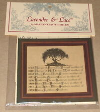 "Lavender & Lace Personalized ""Mother's (Family) Tree"" Cross Stitch Pattern NIP"