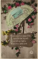 VINTAGE GOOD WISHES POEM POSTCARD - from Mrs Affleck to Mrs Wilkinson in Clifton