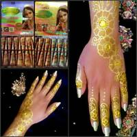 Instant Glitter Cone from Vimal Golecha Sehnaaz India to use with Henna Mehandi