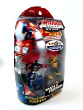 Transformers Bumblebee and Optimus Prime Titanium Series Diecast G1 2-Pack 2007