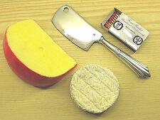 Käsebeil rostfreie Bandstahlklinge WMF 900 Fächermuster 90 g versilbert *0010