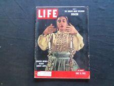1955 JUNE 13 LIFE MAGAZINE - SCRANTON MOTHER AND SABBATH CANDLES - L 959