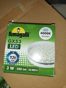 LAMPADINE LED GX53 7W LAMPADA BULBO PLAFONIERA Retrofit FREDDA E CALDA