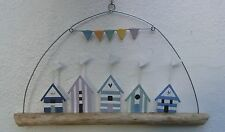 Beach Huts Driftwood Hanging Decoration  gifts  decor