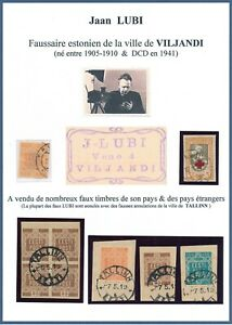 ESTONIA, RARE JAAN LUBI CLASSIC FORGERIES USED STAMPS, SEE..   #N905