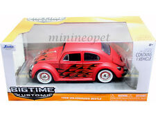 JADA BIGTIME 91697 1959 59 VW VOLKWAGEN BEETLE BUG 1/24 ORG. WHEELS FLAT RED