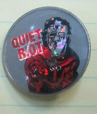 QUIET RIOT VINTAGE METAL LAPEL PIN NEW FROM LATE 80'S HEAVY METAL WOW