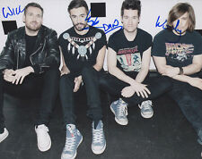 BASTILLE COMPLETE BAND DAN SMITH BAD BLOOD POMPEII SIGNED 8X10 PHOTO COA #2