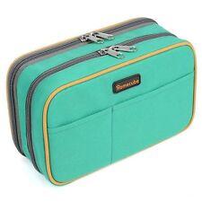 Student Canvas Pen Bag Pencil Case Cosmetic Bags Travel Makeup Bags Box Big Size