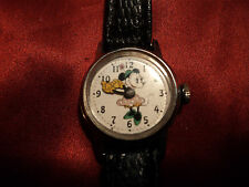 Vintage Minnie mouse girls wrist watch yellow hands Walt Disney Productions