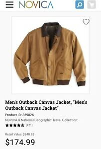 Men's Outback Canvas Jacket. NEW  From NOVICA