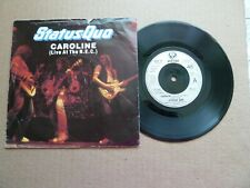 """STATUS QUO - CAROLINE (LIVE AT THE NEC) / DIRTY WATER - 7"""" P/S - FRANCIS ROSSI"""