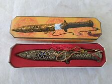 Knife Dagger Collectible w Sheath Fantasy China in Box Stainless