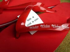AMBER PHARMACY med flip-flops NWT in mesh net Hy-Vee beach shoes Omaha