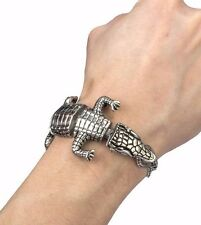 Alligator 8.25 inch Stainless Steel Bracelet From Us Punk Rocker Biker Crocodile