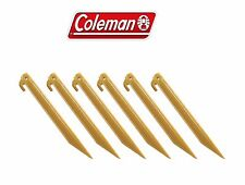Coleman Tent Stakes / Pegs Durable ABS 9 Inches Camping Outdoor 1 Pack of 6 Pcs