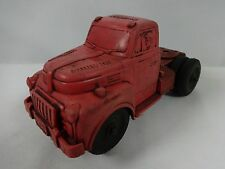 Vintage Auburn Rubber 352 Toy Red Semi Tracter Truck Cab