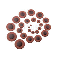 25pcs Dark Brown Tenor Saxophone Woodwind Leather Pads for Yamaha Size Parts