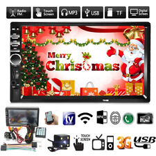7'' Car MP5 Player Double Radio Stereo MP3 2 Din bluetooth FM AUX USB Head   *