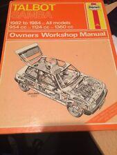 buy talbot 1982 car service repair manuals ebay rh ebay co uk Talbots Logo Talbots Clothing