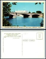 INDIANA Postcard-Indianapolis, 30th Street Bridge showing U.S. Naval Academy M42