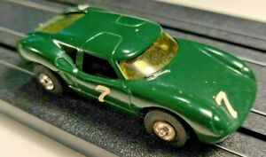Aurora British Racing Green Lola GT body on Tjet chassis.