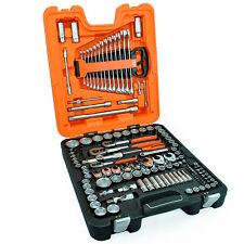 "BAHCO 138 Pc 1/4"" 3/8"" 1/2"" Metric Ratchet Socket Set Short/Deep + Spanners S138"
