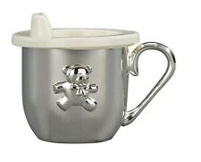 BABY CUP WITH SIPPER LID SILVER PLATED