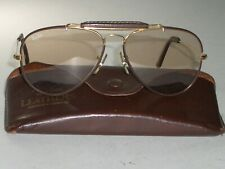 58[]14 VINTAGE B&L RAY-BAN LEATHERS BROWN PHOTOCHROMATIC OUTDOORSMAN SUNGLASSES