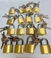 Keyed Alike Padlock 30mm (1 - 50 pieces)  Brass ALL Same Key 3 Keys Each lock