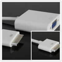 Genuine Apple IPod / I Phone  Dock Connector To VGA ADAPTER - Mint - Fast Post