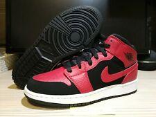 Nike Air Jordan 1 Mid Reverse Bred, 554725 054, UK 3/ EU 35.5/ US 3.5Y, New