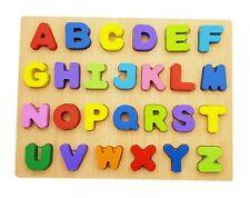 Colourful Alphabet Wood Puzzle Child Functional Co-ordination Skill Training Toy