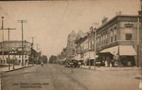 """Antique Postcard  GREENFIELD Indiana IN  """"Main Street Looking West"""""""
