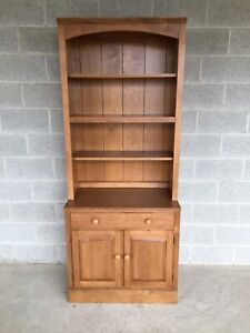 ETHAN ALLEN COUNTRY COLORS 2 PIECE BOOKCASE AND BASE CABINET (FINISH 214)