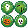144 x Halloween Stickers -Trick Or treat Gifts - GREEN THEME, Pumpkin, Ghost