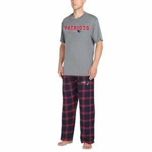 New England Patriots NFL Men's Pajama Sleep Lounge Shirt/Pants Set