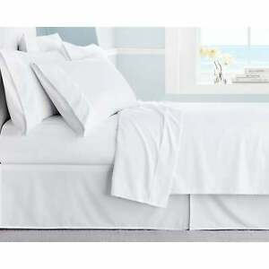 1000 THREAD COUNT WHITE SOLID EGYPTIAN COTTON UK BED SHEET SET/DUVET SET/FITTED