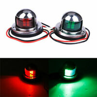 Marine Bow Navigation Light 12V Boat Yacht Red Green LED Lights Stainless Steel