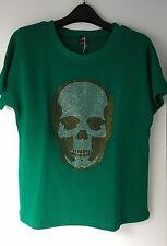 E.VIL QUEEN of EVIL Rhinestone Skull Sweatshirt   Sz: M=UK 10.US 6.EU 38  New!!